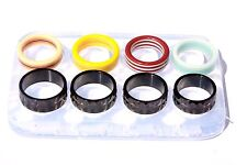 Clear silicone Ring mold. Size Faceted {7}{8}{9}{10}Color size 6,7.5,8.9.(Z-20)i