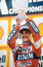 Nigel MANSELL Foto Firmata a Mano 18x12 F1 podio 1.