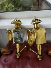 More details for brass coach lamps/antique reproduction in real/solid brass