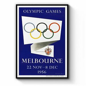 Olympic Games Melbourne (1956) Vintage Wall Art #1: Print, Canvas or Framed