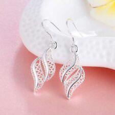 Women Charm Exquisite Hollow Out Leafs Earrings Dangle Earrings Jewelry