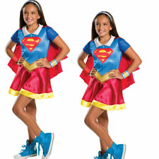 Official Girls Supergirl DC Comic Costume Superhero Kids Child Fancy Dress Outfi