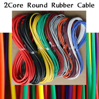 Rubber Cable 2 core Flexible PCV Wire Cable Light multi Colour Flex