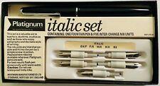 Vintage Platignum Italics Set: One Pen and Five Interchangeable Nibs & Instr Bk