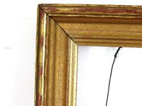 VINTAGE GILDED WOOD FRAME FOR PAINTING 10 3/4  X 8 1/2 INCH  ( a-7)