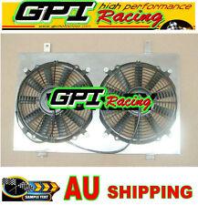 Aluminum Radiator shroud + fan for Nissan Skyline R33 R34 GTR GTST RB25DET MT