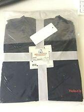 UNIQLO Hello Kitty 45th Anniversary Women Pajama Set (Long Sleeves) Navy Medium