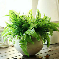 Artificial Fern Bouquet Plastic Plants Fake Persian New Decal Mode Home Lea Y1Q2