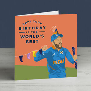 Virat Kohli India Cricket Birthday Card
