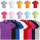 Mens POLO Shirt 100% Cotton Short Sleeves Custom Fit PoloTop Size M L XL XXL