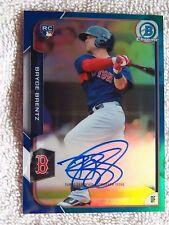 Boston Red Sox Bryce Brentz 2015 Bowman Chrome Blue Refractor Rookie Auto #/150
