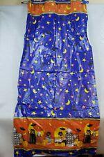 """Zahner Hookless Halloween Shower Curtain 100% VINYL 70"""" x 72"""" Cats Pumpkins Bats"""