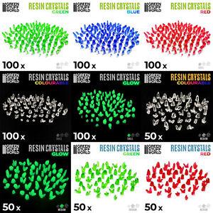 Resin Crystals Green Stuff World   Wargame Basing Materials Alien Crystal Shards