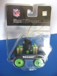 NWT - NFL Seattle Seahawks Wagon with Gifts Ornament