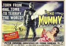 The Mummy - Peter Cushing - Christopher Lee - Hammer - A4 Laminated Mini Poster