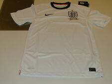 England 2013 Soccer Home Jersey Short Sleeves XL International Federation Boys
