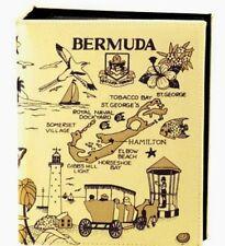 BERMUDA MAP EMBOSSED PHOTO ALBUM 100 PHOTOS/ 4x6