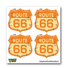 Route 66 Vintage Road Sign - Set of 4 - Window Bumper Laptop Stickers