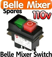 Belle Cement Concrete Mixer 110v ON OFF Switch Minimix 150 Spares Parts Electric