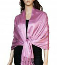 BRAND NEW LUXURIOUS pink lilac PASHMINA SHAWL WRAP SCARVES  STOLE