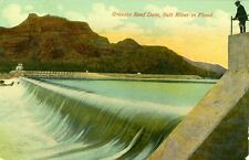 Phoenix,AZ. Granite Reef Dam,Salt River in Flood 1913