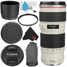 Canon EF 70-200mm f/4L USM Telephoto Zoom Lens Bundle for Canon SLR Digital Came