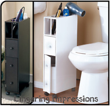 Slim Rolling Bathroom Beauty Storage Organizer Cabinet Door Caddies Tp Holder