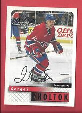 1999-00 Upper Deck MVP Stanley Cup Edition Silver Script 95 SERGEI ZHOLTOK