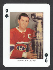 Maurice Rocket Richard Montreal Canadiens Scarce Hockey Playing Card from Sweden