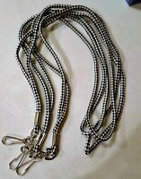 Lot of 3 Black and White Checkered Keychain Lanyard ID Cellphone Holder NEW