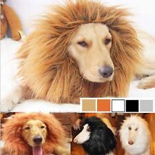 Pet Costume Lion Mane Wig Hair for Large Dog Halloween Clothes Fancy Dress up HT