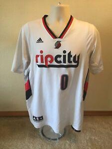 "Adidas Damian Lillard ""Rip City"" Portland Trailblazers Jersey-Size Medium"