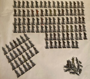 "Old Lead Toy Soldier Lot of 112 Unpainted 2"" Figurines With Gun & Marching"