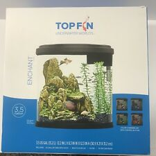 Top Fin Underwater Worlds Enchant 3.5 Gallon Fish Aquarium Kit New Complete
