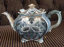 Antique Burleigh Tea Pot. Lotus Flowers And Gold Detail