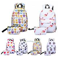 Women Fashion Canvas School Bag Girl Backpack Travel Rucksack Shoulder Bag