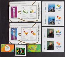 BRAZIL 2016 OLYMPICS, MNH** Collection Sheets+Stamps, Olympiade Birds