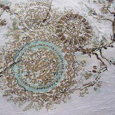 99CM X 122CM Vintage Antique Satin Curtain Fabric1950 Golden Bough Blossom MCM