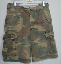 Hollister California Camo Cargo Shorts Mens 30 Waist 30W RN102573 Vintage AS IS