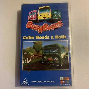 Busy Buses - Colin Needs a Bath (VHS, 2002) ABC Kids, PAL