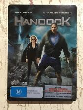 HANCOCK (DVD R4) STEELBOOK 2 Discs Will Smith Charlize Theron Action Comedy VGC