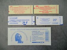 1 LOT 5 CARNETS TIMBRES FRANCE NEUF 1982/2005