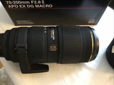 Sigma AF 70-200mm f2.8 II APO DG EX Macro HSM  lens FX Nikon EXC