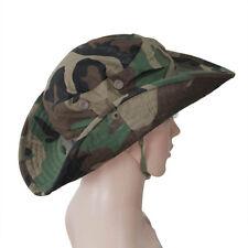 Fishing Hiking Boonie Snap Brim Military Bucket Sun Hat Cap Woodland Camo L3