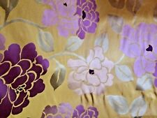 OSBORNE & LITTLE/LORCA Silk Road Sausalito purple citron 100% silk panel new