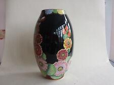 Brilliant Art Deco Carlton Ware Lustre Hollyhocks Pattern 3820 Vase