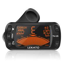 LEKATO 3-in-1 Clip-On Tuner +Metronome +Tone Generator For Guitar Bass Chromatic