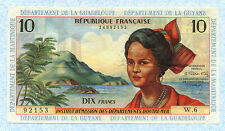 FRENCH ANTILLES 10 Francs 1964 P8b XF RARE!!!