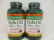 NATURE'S BOUNTY TWIN PACK FISH OIL 1200MG 360 SOFTGELS EACH EXP:10/21+ AH 2114