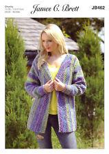 Marble Chunky Knitting Pattern Ladies Long Sleeved Jacket James Brett JB462